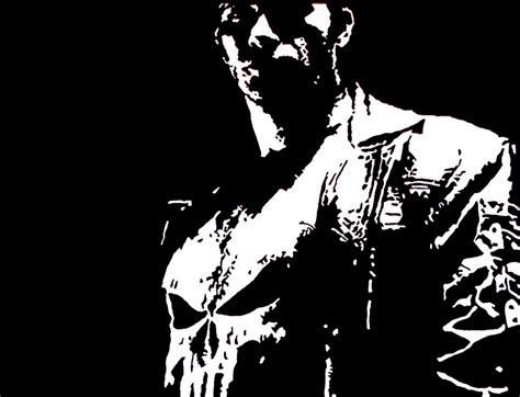 black and white marvel wallpaper the punisher wallpapers wallpaper cave
