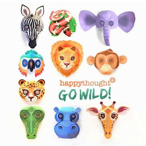 printable animal masks download easy to make mask