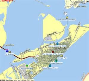 map of galveston island island map galveston hotel bed and breakfast map