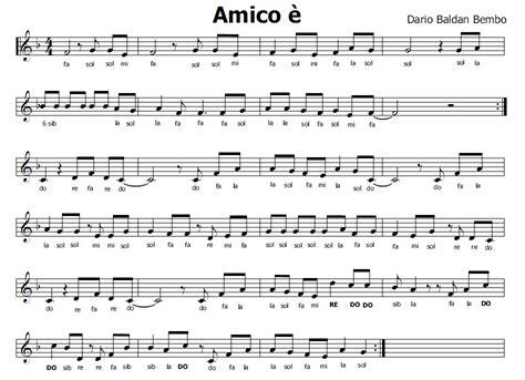 musica e spartiti gratis per flauto dolce amico 232 inno