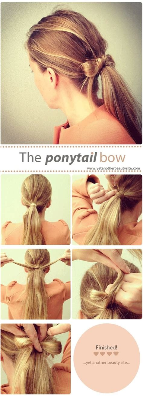 Bow Hairstyle Step By Step by Ponytail Step By Step Images