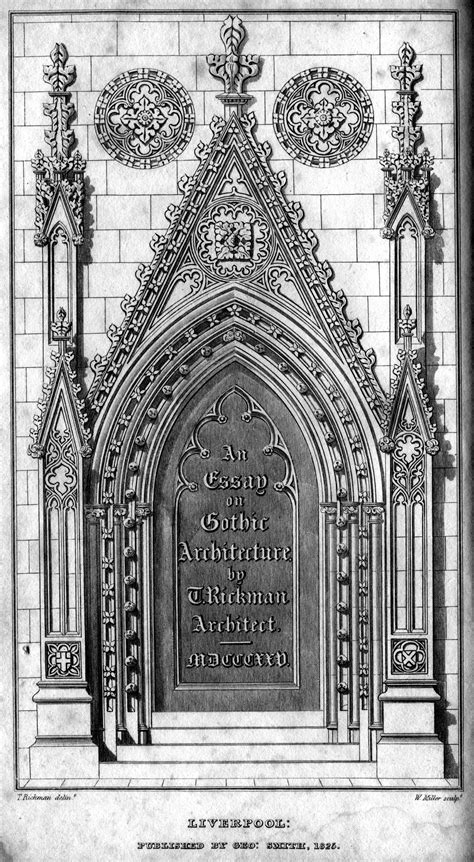 gothic design file essay on gothic architecture fontispiece engraving by