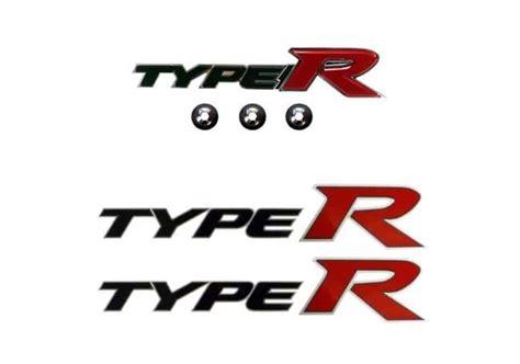 Emblem Honda Type R genuine honda civic front type r badge and side decals