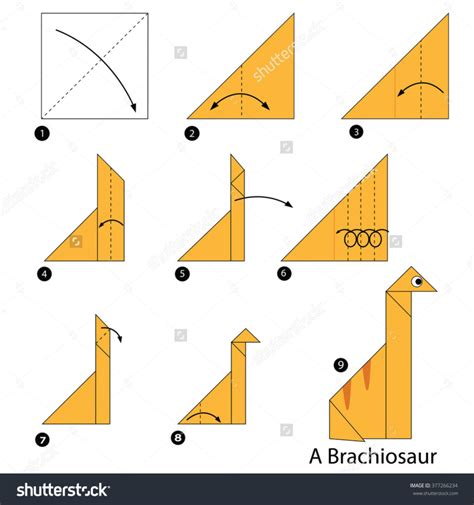 Origami Dinosaur For - free coloring pages archaicfair origami dinosaur