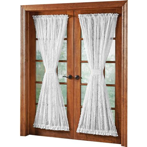 lace door panel curtains lace patio door curtains alison scalloped lace door panel