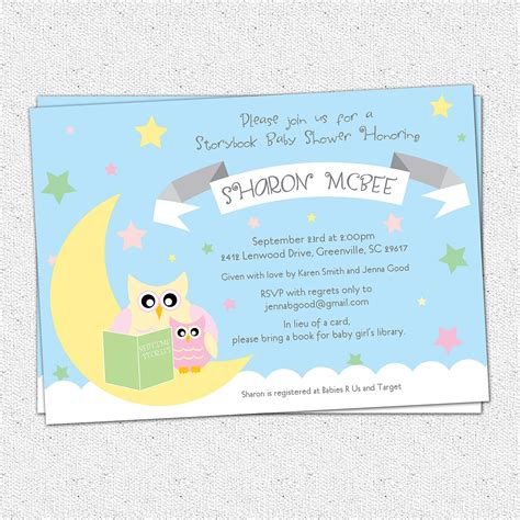 baby shower invitation wording book theme storybook themed baby shower invitations theruntime
