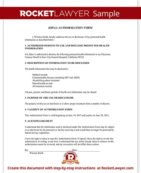 Offer Letter Requirements New York Record Release Hipaa Authorization Form