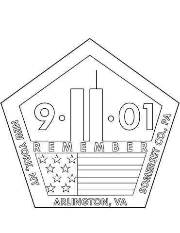coloring pages of world trade center 11th september memorial coloring page free printable