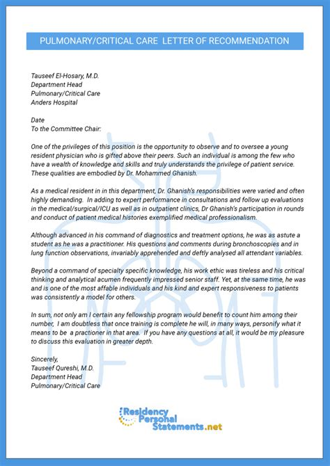 Letter Of Recommendation Research Fellowship Letter Of Recommendation For Fellowship Exle Residency Personal Statements