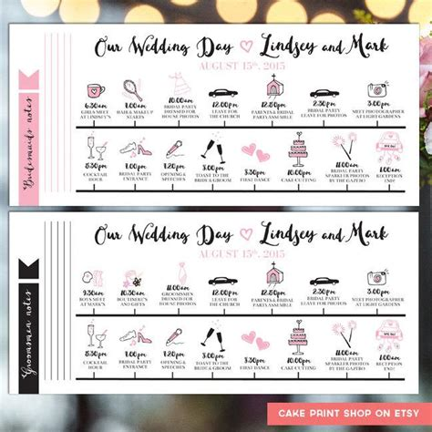 Wedding Day Timeline by Printable Wedding Itinerary Wedding Day Itinerary