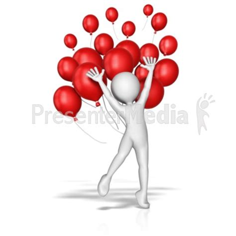 Balloon Jump Celebration Presentation Clipart Great Presenter Media Free