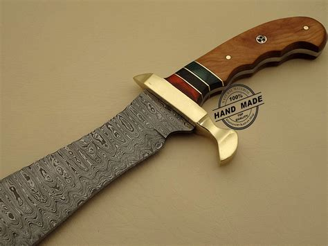 professional damascus bowie knife custom handmade damascus