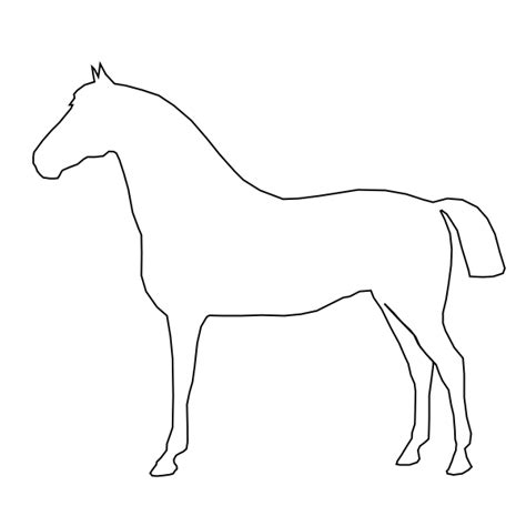 simple horse coloring page horse outline clip art at clker com vector clip art