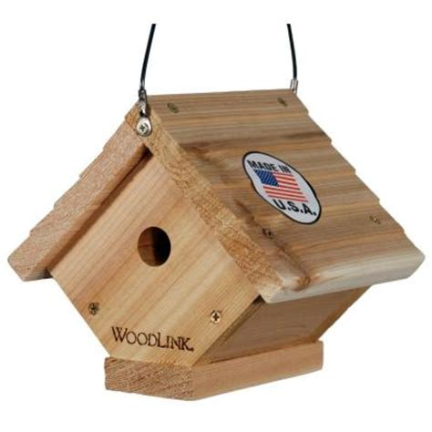 house wren bird woodlink cedar traditional wren bird house wren2 the home depot