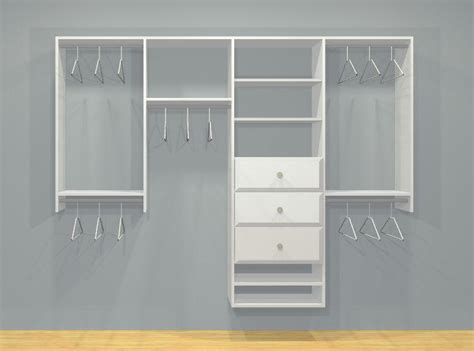 Drawers For Closets by Wardrobe Closet Kit With Drawers 4 Sect 4 7ft Reach