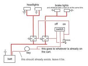 wiring lights on a golfcart s 10 forum