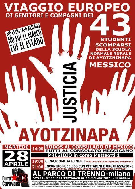 consolato messicano i genitori dei 43 studenti messicani di ayoztinapa a