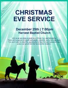 Nativity flyer christmas eve service template flyer templates
