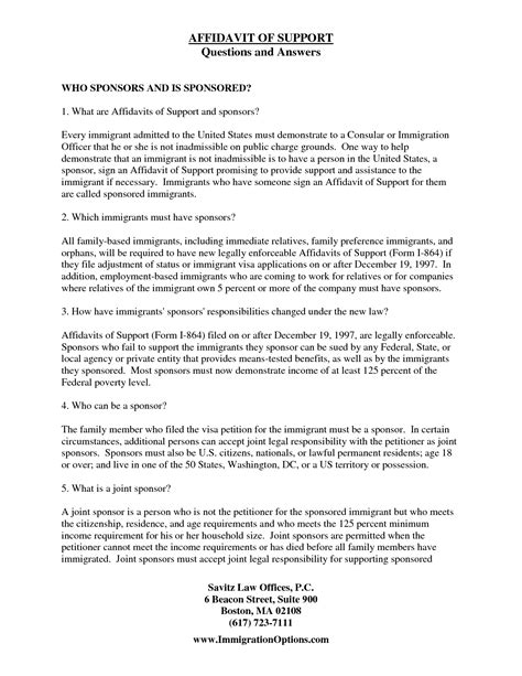 Affidavit Of Support Sle Letter From Employer Immigration Affidavit Letter Sle Bagnas Affidavit Of Support Sle Documents