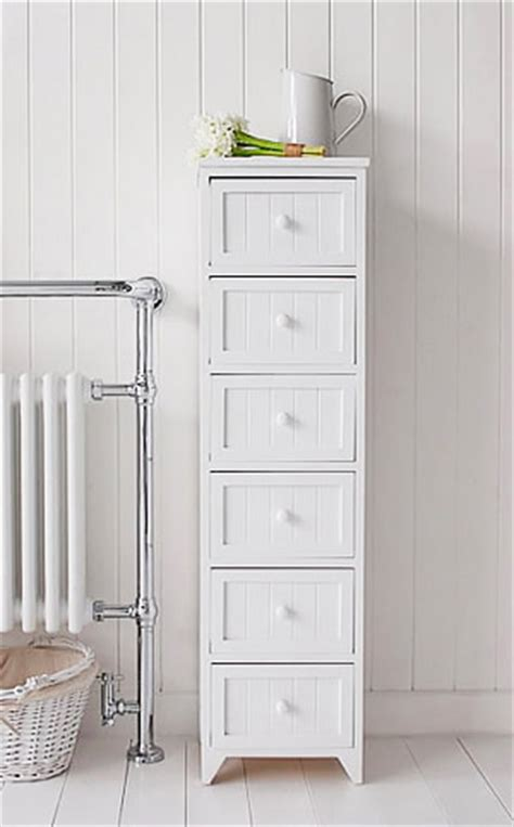 tall bathroom cupboards freestanding free standing tall slim bathroom cabinet with 6 drawers white cottage living