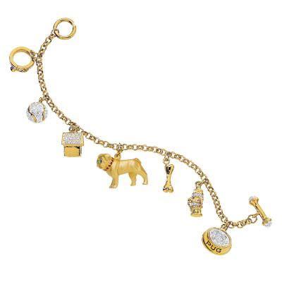 pug bracelet pug charm bracelet the danbury mint