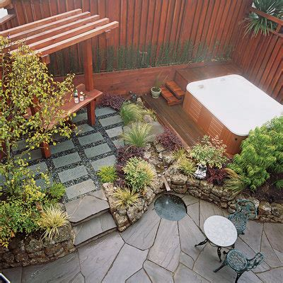 Small Space Garden Patio Ideas And Designs Sunset Small Garden Patio Designs