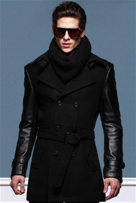 black leather pea coat mens wool mens fashion pea coat 2 tone sale get mens wool mens fashion pea