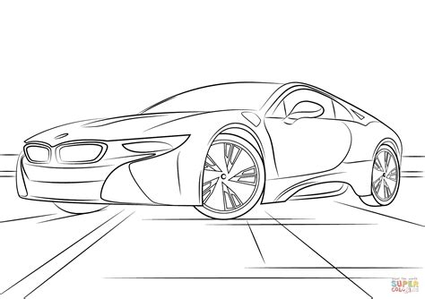 Auto Malen Bmw by Bmw I8 Coloring Page Free Printable Coloring Pages