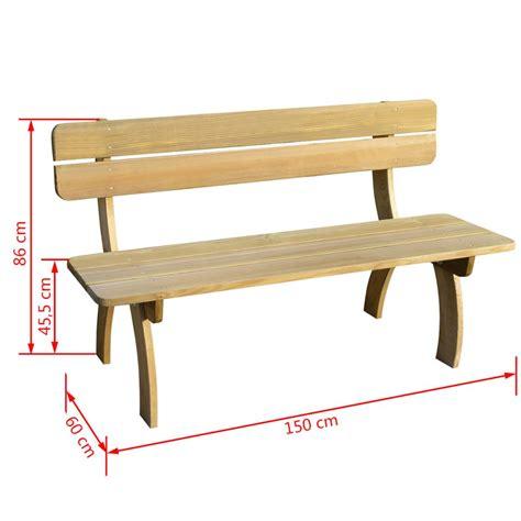 panchina in legno da giardino articoli per vidaxl panchina da giardino in legno di pino