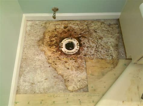 how to replace a bathroom subfloor bathroom subfloor repair