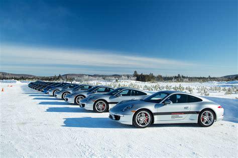 porsche winter porsche winter driving experience canada finland