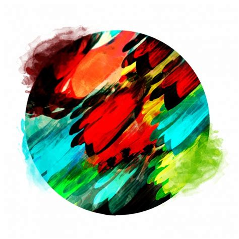 colorful round wallpaper colorful round background in watercolor style vector