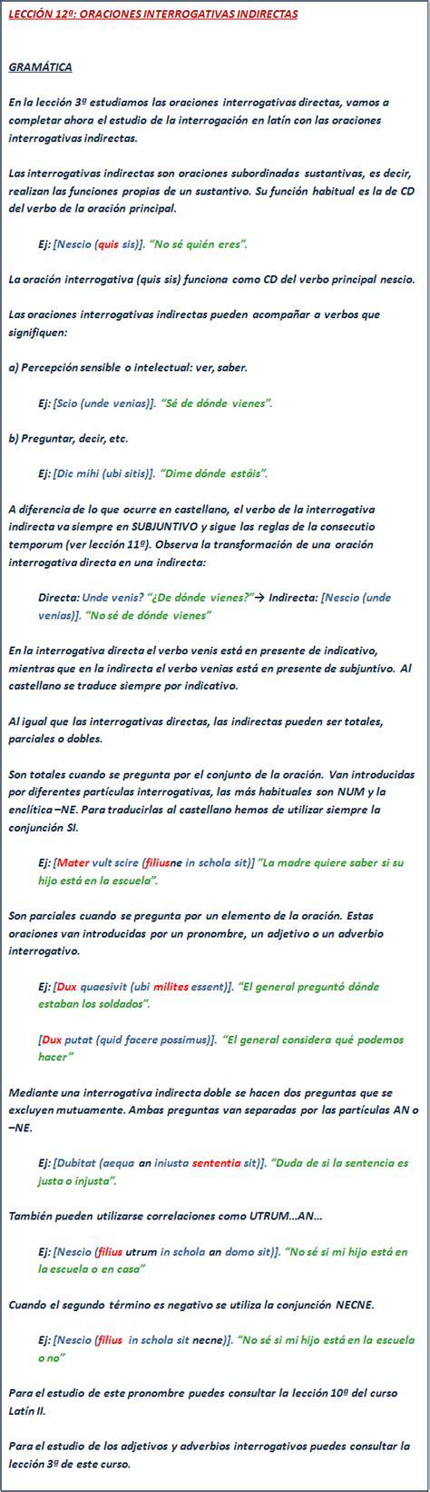 preguntas interrogativas indirectas oraciones interrogativas indirectas lat 237 n intermedio