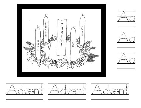 german advent wreath coloring page 3rd sunday of advent black white clipart clipart suggest