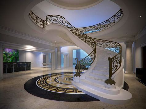 Classic Stairs Design Classical Stair 3d Model