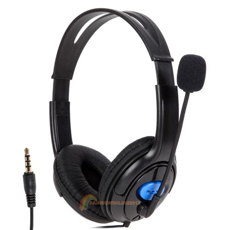 Headset Sony Pc wired gaming headset headphones with microphone mic for sony ps4 playstation 4 ebay