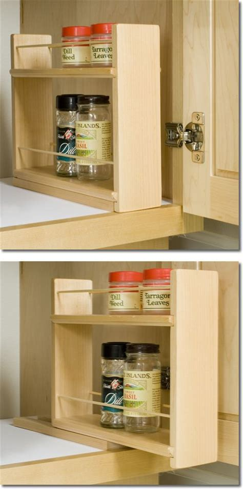 diy inside cabinet spice rack sliding spice rack can be placed inside cabinets as shown just slide out for easy access 10 1