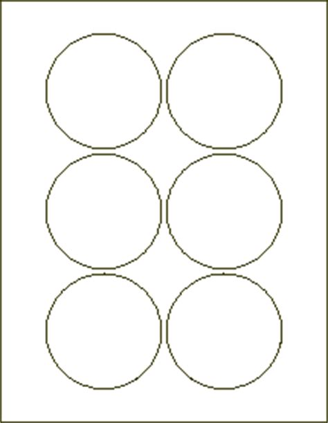 3 inch circle template free 3 inch circle labels laser labels for inkjet and laser
