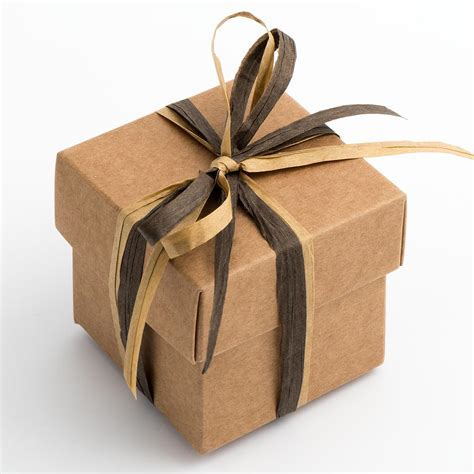 Rustic Kraft Square Favour Boxes and Lids at Favour This