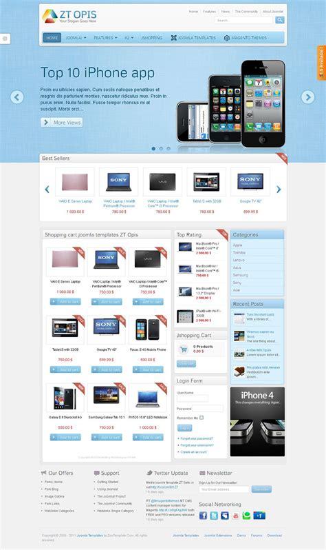 Zt Opis Premium Joomla Ecommerce Template Joomla Template Developer
