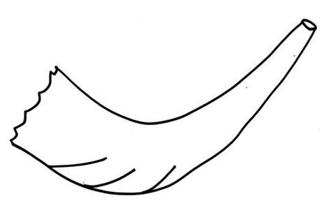 shofar coloring page shofarot challah crumbs