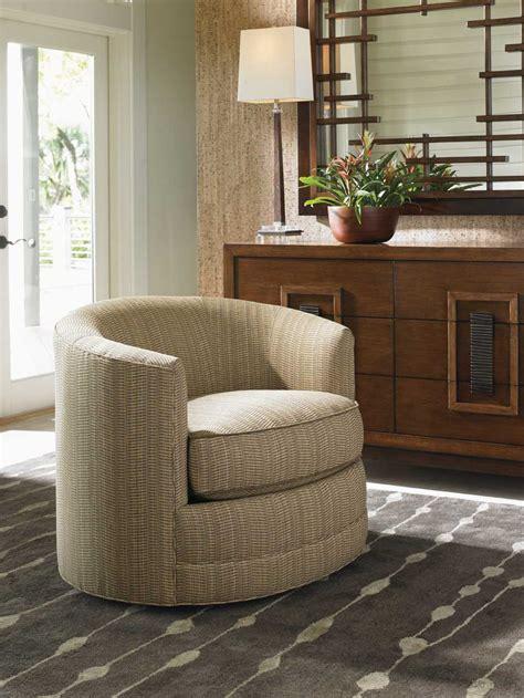 tommy bahama island fusion living room furniture tommy bahama island fusion tight back kava swivel arm