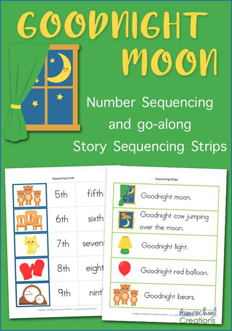 Goodnight Moon Worksheet by Goodnight Moon Sequencing Cards Free Printable