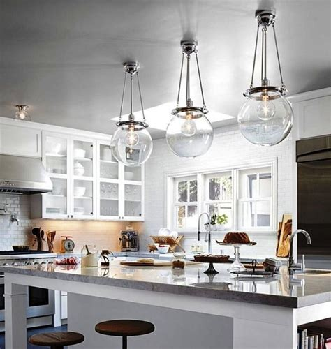 Glass Pendant Lighting For Kitchen Clear Glass Pendant Lights For Kitchen Island Uk Home