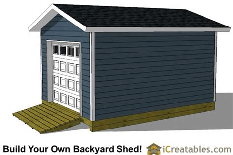 16 X 12 Garage Door by 12x16 Shed Plans With Garage Door Icreatables