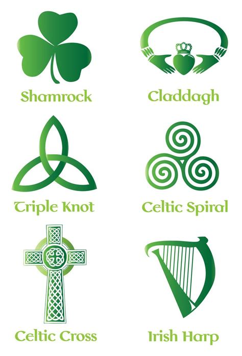 irish tattoos and meanings celtic symbol vector set backgrounds buttons