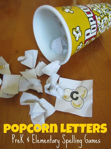printable popcorn letters relentlessly fun deceptively educational august 2013