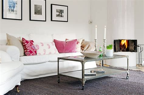 grey and pink sofa in your back pocket a dash of hot pink goes a long way