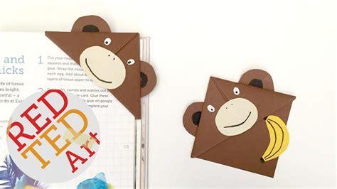 printable monkey bookmarks easy monkey bookmark corner diy bonus video youtube