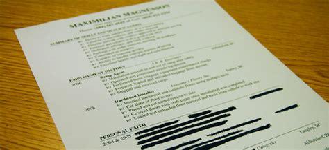 Bad Resume Sles